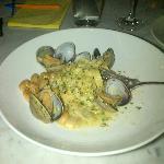 Fetuchini with Clams & Beans