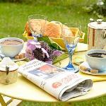 petit dejeuner jardin