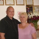Proprietor Pat with husband Gez