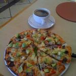 One of the best pizzas I have ever eaten! An avocado and biltong pizza