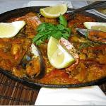 Seafood paella at El Mar La Mar