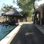 Pool and deck area overlooking the Blue Canyon Conservancy game reserve