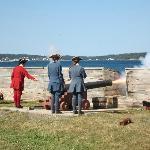 Kanonenfeuer aus Fort Louisbourg