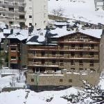 View of Aparthotel Hort de Popaire taken from the ski slopes