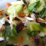 Fantastisk mat med råvaror från den egna gården. Egna grönsaker till exempel. Paradis för vegeta