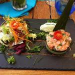 tartare de saumon...excellent