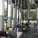 Great swings at dining area