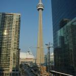 Vue de notre chambre sur la CN Tower