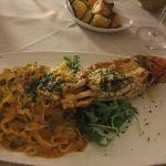 Great pasta with lobster