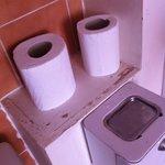 Les toilettes défraichies