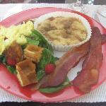 One of Leslie's amazing breakfasts