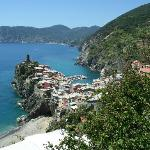 Vernazza from trail #2