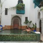 Farnatchi courtyard pool