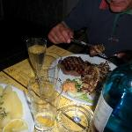 Filetto con cipolle arrostite