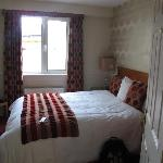This is the room with the double bed in it
