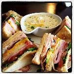 turkey club and white bean soup.