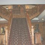 Staircase upon entering front door of hotel