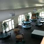 Shot of the dining room from second floor look out area.