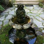Fountain in the front lawn