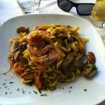 """Fantastic restaurant in Trastevere, 1 block from the B&B"""