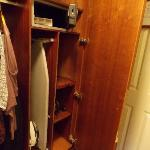 Wardrobe, with iron, ironing board and safe