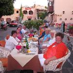 Ten good friends enjoys a great meal at EROS, Old town, Rhodos