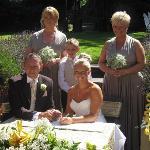 After signing the wedding register.