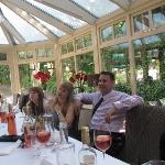 One of the two dining areas, after the wedding breakfast.