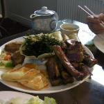 ribs, wings, wontons, seaweed, prawn toast