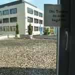 The terrace  - do not enter!