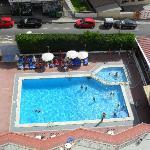 Our view of pool from 8th floor