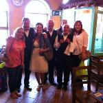 The charming waiters and us girls.