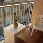 Cute balcony, we brought this little table from the room