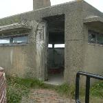 A closeup shot of one of the bunkers dating from World War II