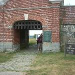 The main gate to the fort