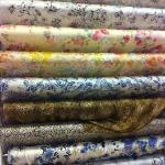 Beutiful and different patterns of silk