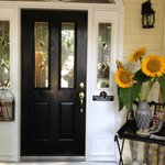 Welcoming Front Door. Such charm!