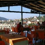 View of Kas from fourth floor dining terrace