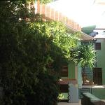 vista da frente dos quartos