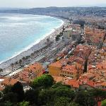 View from Castle Hill overlooking Nice toward Promenade des Anglais