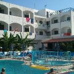 hotel and pool area