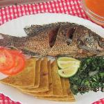 An authentic Kenyan meal made with wholemeal & organic produce & fish