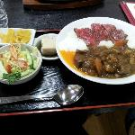 Bol de arroz con ternera de Hida y estofado