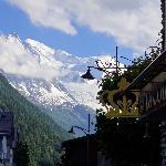 vue Mont Blanc de l'hôtel