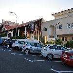 Parking ana street near the hotel