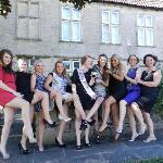 Girls enjoying the manor house!