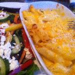Million Dollar Mac and Cheese with Garden Salad