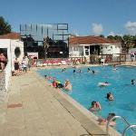 The pool area at Le Bois Masson