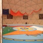 A glimpse inside the dome