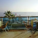 Ausblick vom Restaurant aufs Meer und Strand